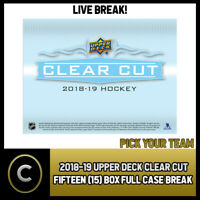2018-19 UPPER DECK CLEAR CUT 15 BOX (FULL CASE) BREAK #H391 - PICK YOUR TEAM