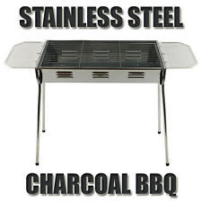 Stainless Steel Tall BBQ Charcoal Wood Outdoor Barbecue Grill Camping Picnic