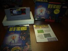OUT OF THIS WORLD FOR SUPER NINTENDO SNES COMPLETE!