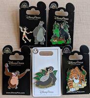 Disney Jungle book Mowgli Baloo Bagheera Shere Khan King Louie 6 Pin Set