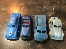 Four Vintage Plastic Toy Cars and Trucks