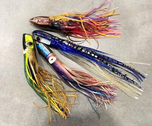 Lot of  4 PCS Used Polu Kai Marlin Tuna Wahoo Ono Mahi Lures - Amazing