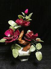 REAL JADE BONSAI FLOWER- RED ROSES (202-3C)