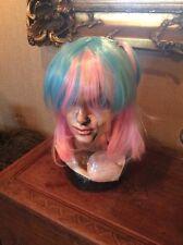 New Lolita Blue Mixed Pink Anime Women Girl Lovely Cosplay Hair Full Wig #124