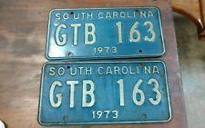 Pair of South Carolina license plates 1973