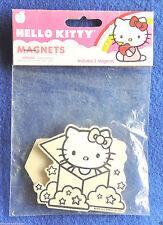 "Set of 2 Wooden Hello Kitty Refrigerator Magnets 2"" x 2-3/4"" c2012 Sanrio Co NIP"