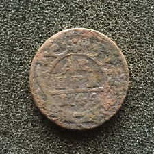 1744 Old Russian Imperial Coin - Denga..