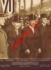 Vu n° 175 du 22/07/1931 Briand Transsaharien Oswald Mosley Exposition coloniale