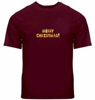Unisex Tee T-Shirt Mens Women Shirts Print Gift Merry Christmas Candy Cookie