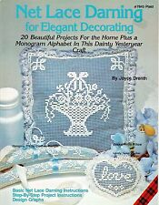 Net Lace Darning for Elegant Decorating Design Charts Patterns Joyce Drenth NEW