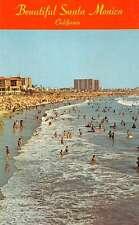 Santa Monica California Bathing Beach Scene Vintage Postcard K30974