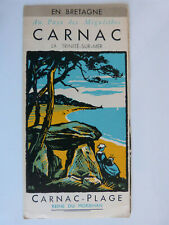 depliant touristique carte guide brochure France Bretagne Carnac