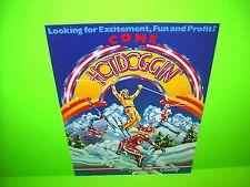 Bally HOTDOGGIN Original 1980 NOS Flipper Game Pinball Machine Promo Sales Flyer