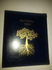 Mi Familia árbol-Historia De Almacenamiento Binder ref azul con capacidad de 4d de 25 mm de metal