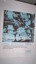 Alfa Romeo Spider Engine Maintenance Manual - 1982 -  PDF Version