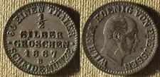Germany State : Prussia 1867B  1/2 Sil. Groschen  XF/AU  #484   IR8154