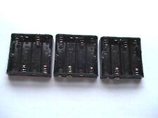 8 x 4 vie PORTA BATTERIA AA (piatto) con clip di tipo PP3 connessione