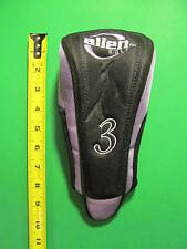 ALien Golf #3 AG7 Golf Club Head Cover. Primary Colors Black / Purple.