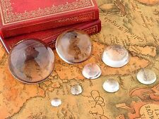 2pcs 8mm Glass Crystal Paper Weight Clear Half Sphere Ball Magnifying Glass Lens