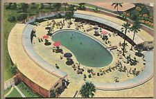 1948 HABANA HAVANA CUBA POSTCARD Cabana Sun Club at Hotel National de Cuba