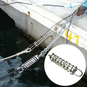 """3.74"""" Stainless Steel Boat Yacht Anchor Dock Line Mooring Spring Shock Absorbing"""