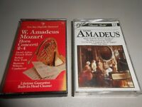 Two Tape lot of Music from Amadeus Mozart Cassette Tapes
