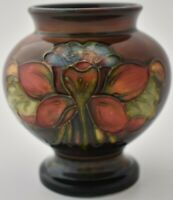 Vintage Moorcroft Pottery Flambe Vase - Columbine Flowers Design