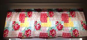 Window Valance Pioneer Woman Patchwork Handmade MadeNew Free Ship Sale
