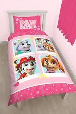 Paw Patrol 'Stars' Panel Girls Kids Bedroom Single Duvet / Quilt Cover Set New