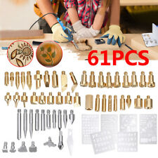 62Pcs 60W Electric Soldering Iron Wood Burning Pen Tip Kit Pyrography Craft Tool