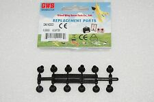 Gws Gw/Ad001 Rubber Prop Adapters (12) For 280 To 400 Size Airplane Motors