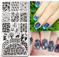 BORN PRETTY Nail Art Stamping Template DIY Halloween Pumpkin Image Plate L057