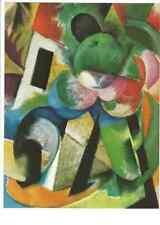 Frau im Wind am Meer Künstlerkarte Künstler Maler Franz Marc color Postkarte