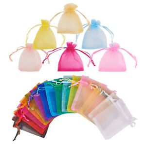 100pc Organza Gift Bags Jewelry Candy Bag Wedding Favors Bags Mesh Bag Utility