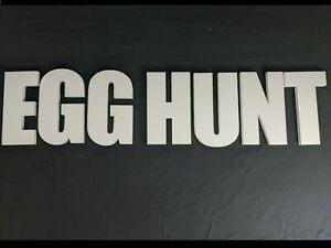 EGG HUNT Polystyrene Decorative Letters ( EASTER ) - 380mm high - 25mm thick