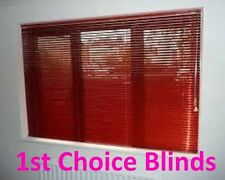 RED ALUMINIUM METAL VENETIAN WINDOW BLINDS MADE TO MEASURE