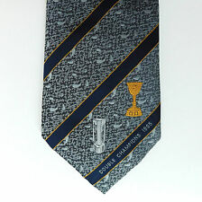 Cricket tie Warwickshire Double Champions 1995 Vintage 1990s Nat West + County