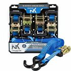 """1"""" x 15 Ft Ratchet Tie Down 4-Pack Set with S hook -NK-R154PK"""