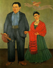 Kahlo Frida Frida And Diego Rivera Canvas 16 x 20   #4993