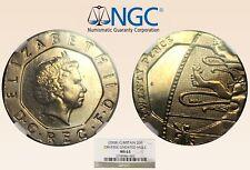 (2008) Ngc Ms63 G. Britain 20P Obverse Undated Mule - RicksCafeAmerican.com