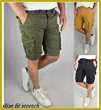 Bermuda cargo uomo tasconi tasche laterali shorts pantaloni corti pantaloncini