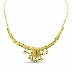 Pre-owned 22ct Indian Gold Set Necklace Earrings