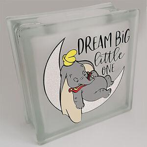 Dumbo New Baby 'DREAM BIG, LITTLE ONE' Money Box reusable glass Disney moneybox