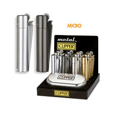 ★1 ACCENDINO CLIPPER MICRO METAL IN METALLO A GAS RICARICABILE GOLD★
