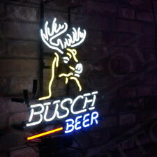 """Busch Beer"" Bar Deer Sign Vintage Neon Light Boutique Workshop Home Wall Decor"