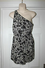 Ladies Animal Print Topshop Dress Size 10 Off the Shoulder Party