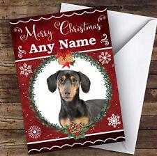 Dachshund Dog Traditional Animal Personalised Christmas Card
