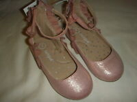 Cat & Jack Toddler Girls' Ankle Strap Metallic Pink Ballet Flats - Choose Size