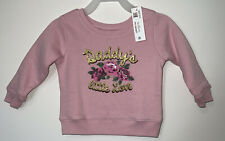 Infant Girls Pink Floral Daddy's Little Love Sweatshirt Sweat Shirt 12 Months