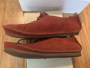 Clarks Originals Faraway Field Beeswax Loafers Women's shoes Red Size 9.5